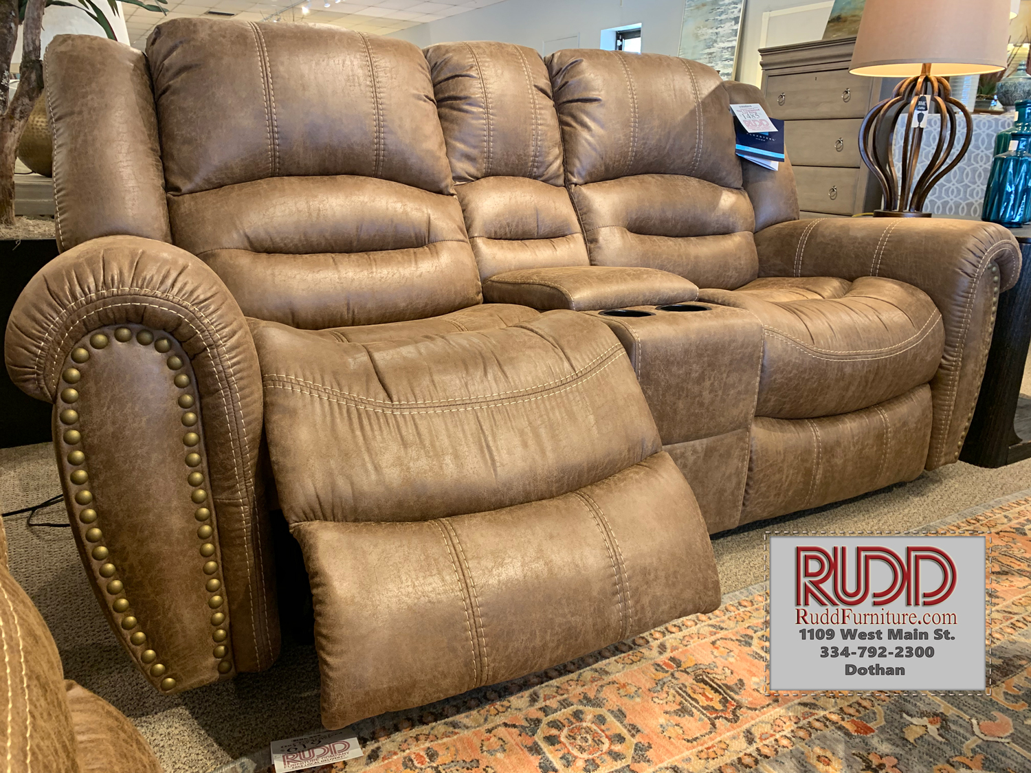 1710 604p Power Dual Reclining Fabric Loveseat With